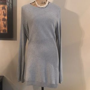 Women's APT. 9 Ribbed Balloon Sleeve Tunic Sweater